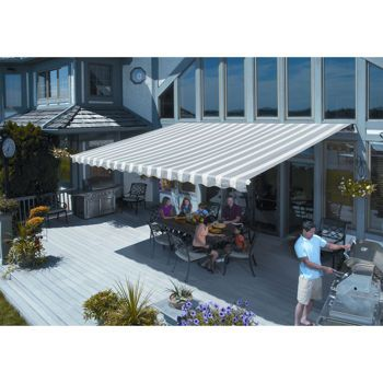 From Costco Sunsetter Manual Motorized And Xl Retractable Awnings Retractable Awning Fabric Awning Wooden Pergola