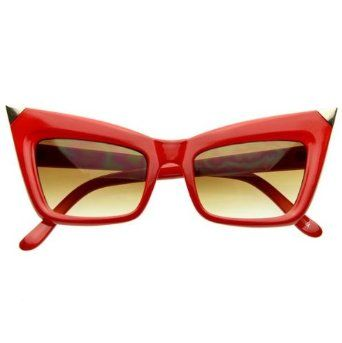 1926f5a104 Designer Inspired Fashion High Pointed Sharp Cat Eye Sunglasses ...
