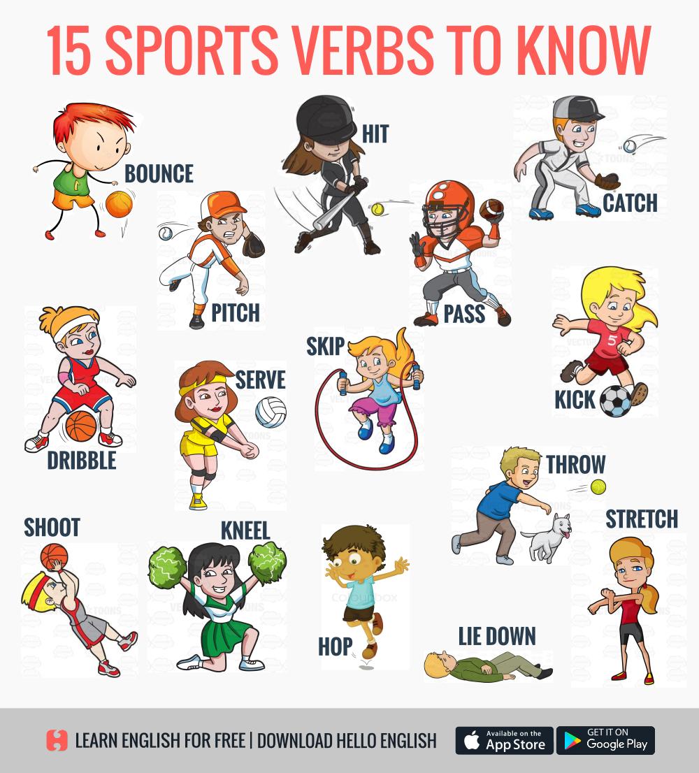 Sports Verbs Vocabulario En Ingles Deportes En Ingles Libro Ingles