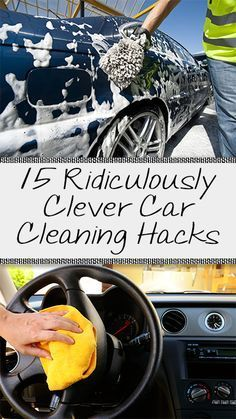 15 Ridiculously Clever Car Cleaning Hacks #cleaningcars