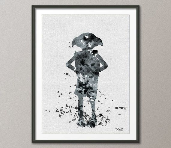 Dobby From Harry Potter Art Print Watercolor Painting 8x10