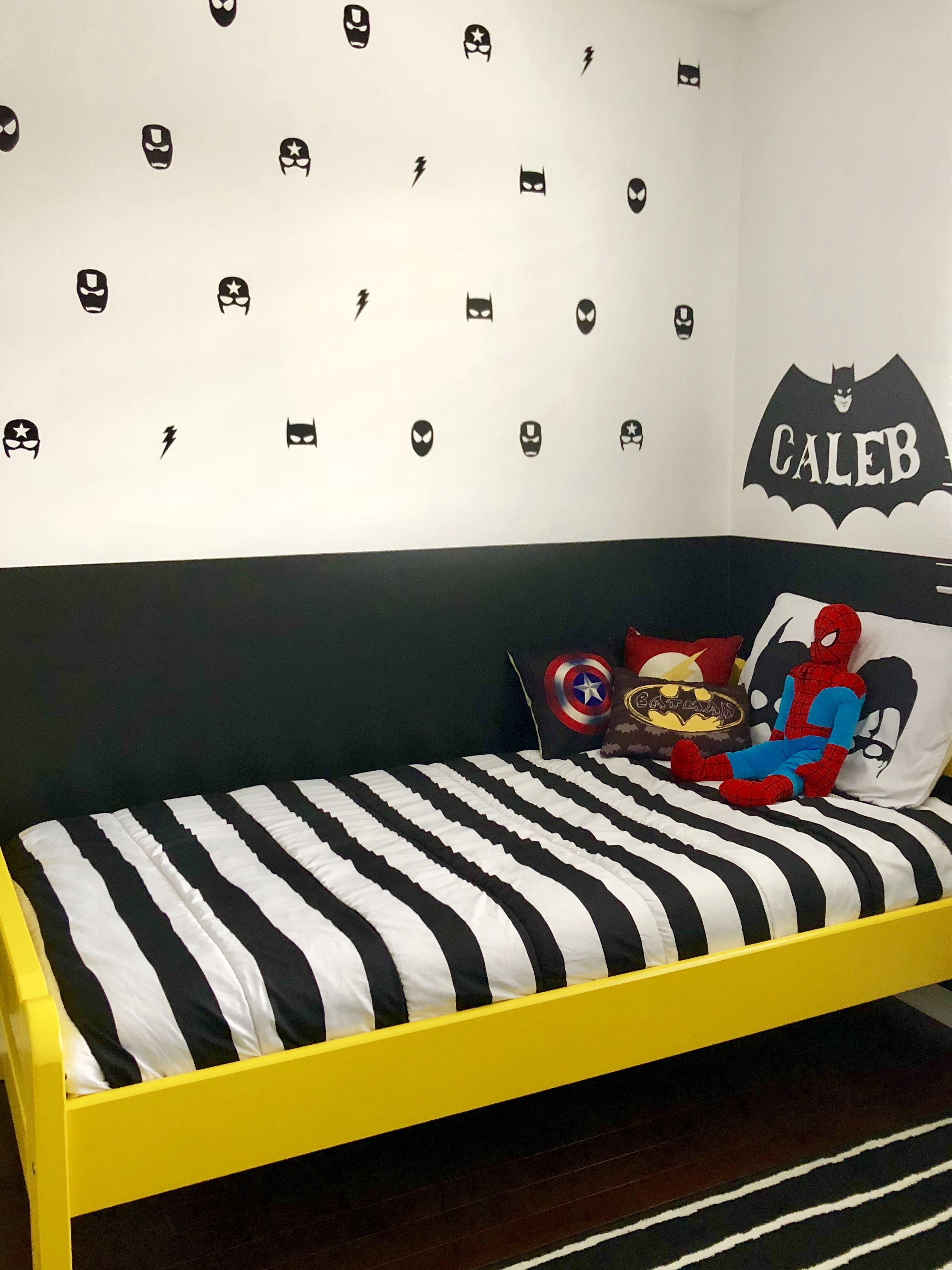40x//Set Hero Batman Mask Removable Wall Stickers for Kids Children Vinyl Decal
