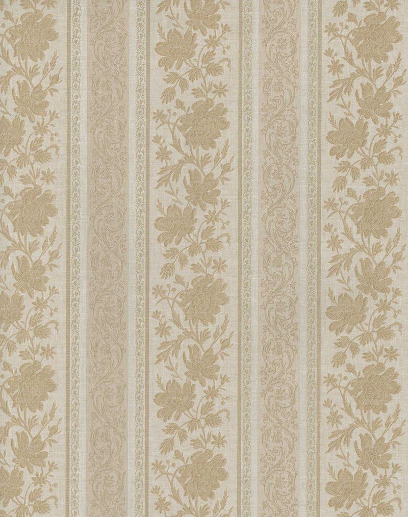 Whitewash Over Floral Victorian Wallpaper Soft Brown Grey