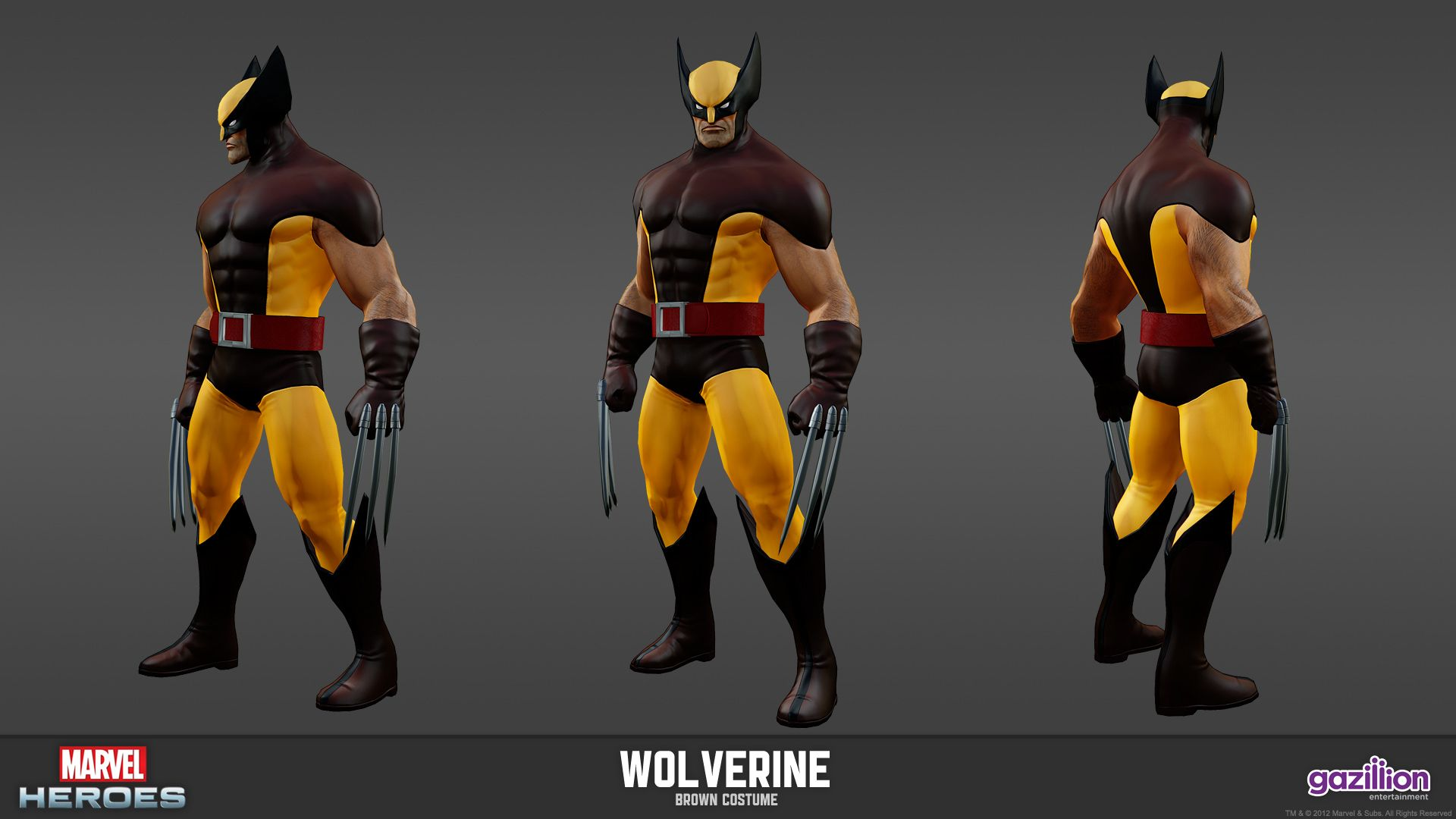 Wolverine - Brown Costume | Marvel Heroes Model Sheets | Pinterest ...