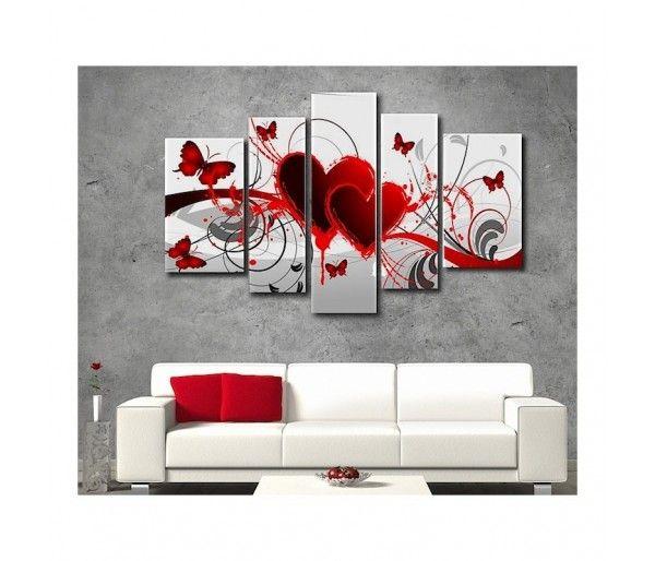 Déco · tableau design coeur et papillon