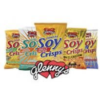 Glenny's Soy Crisps in various flavors. Available at most major supermarkets.