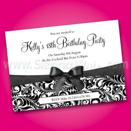 Personalised Birthday Invitations X 25 FREE DRAFT Any Age 18th 21st 30th 40th 50th 60th B26 Amazoncouk Kitchen Home