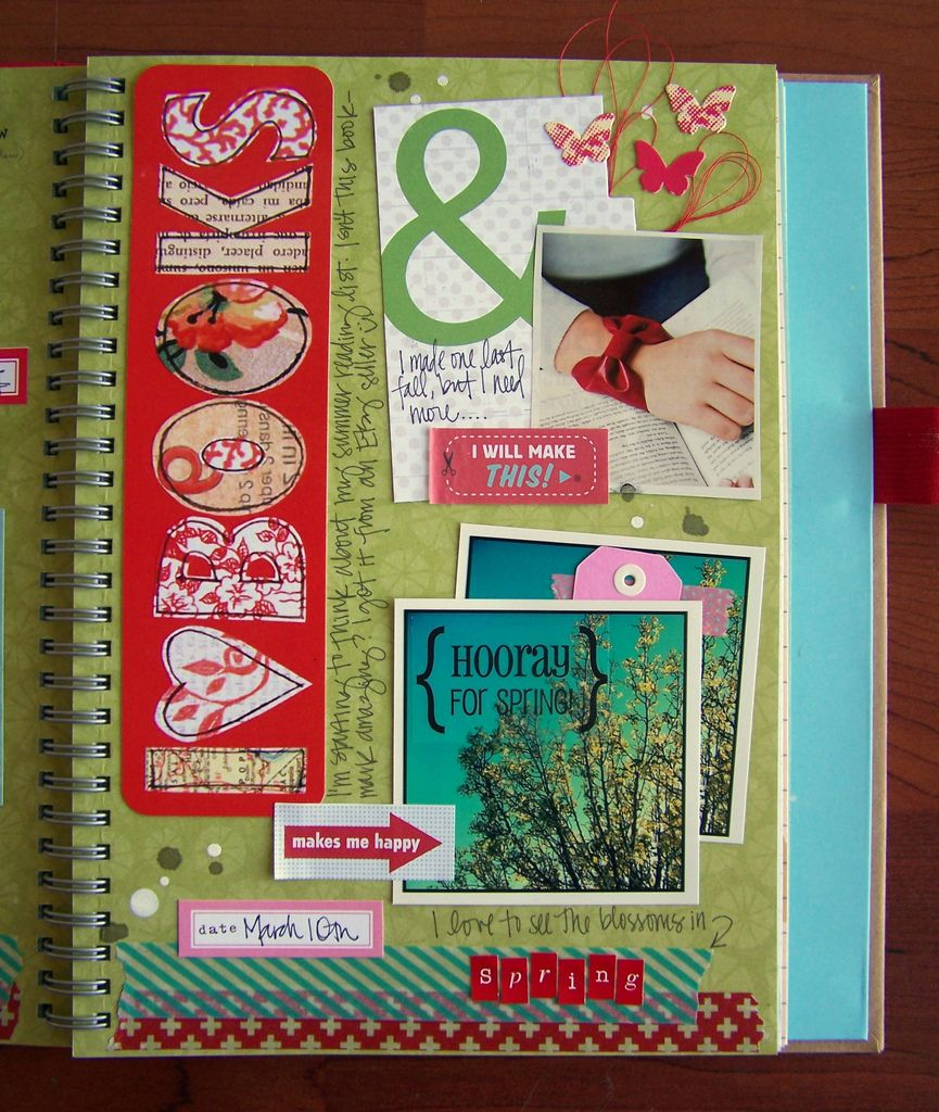 Spring Smash Book Page   by Tessa Buys