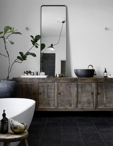 these rustic bathrooms make a case for country living rustic rh pinterest co uk Country Bathrooms with Beadboard Bathroom Farm Style Sink