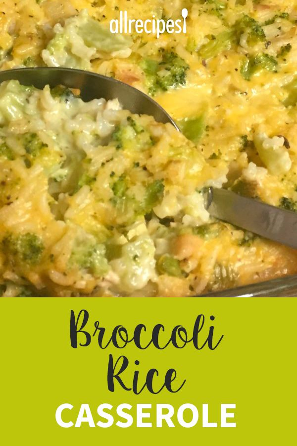Broccoli Rice Casserole #chickensidedishes
