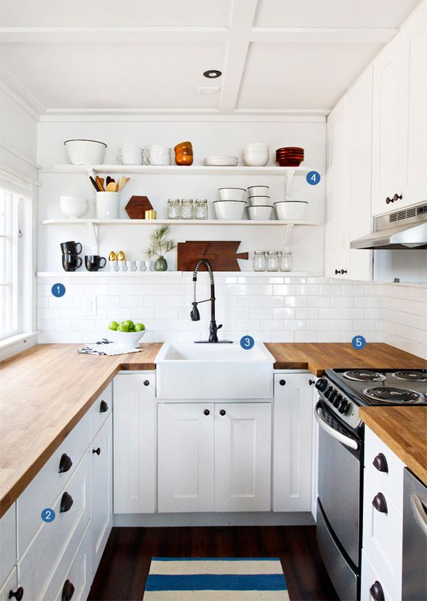 vintage kitchen open shelves Design e praticidade Pinterest - remodelacion de cocinas