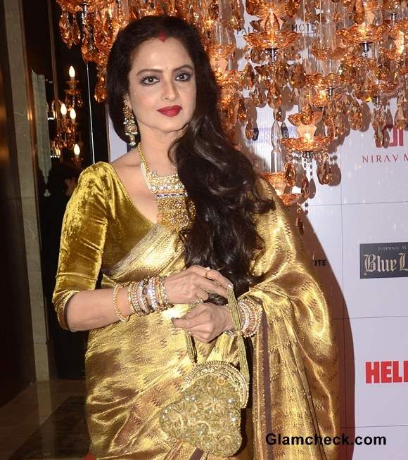 230757d49190fb rekha different shades of gold velvet blouse | Blouses | Saree ...