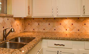 travertine tile backsplash Granite Backsplash Granite