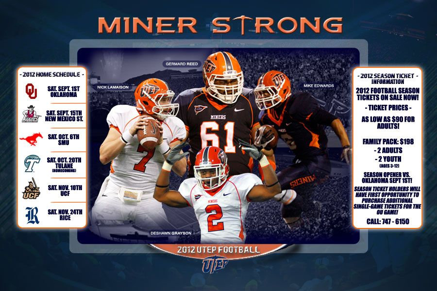 Everything you need to know for the 2012 UTEP Football