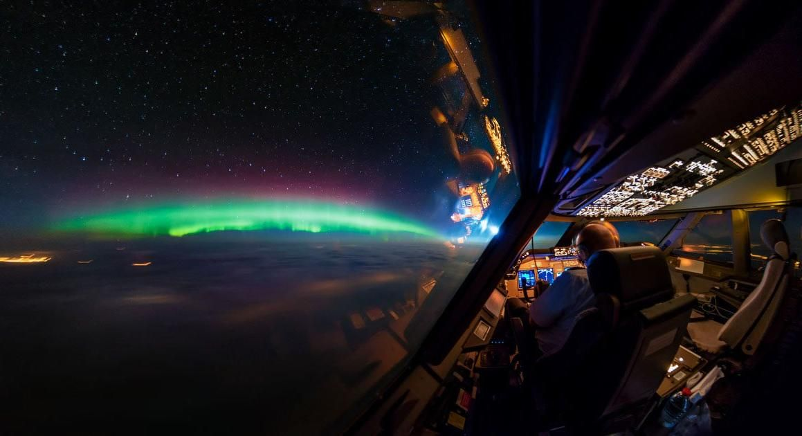 Long Exposure Photography From The Cockpit Of A 747 Exposure