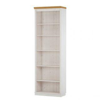 Annabelle 86 Inch Solid Pine Bookshelf Annabelle Tall Bookshelf Off White Honey Beige Scandinavian Living