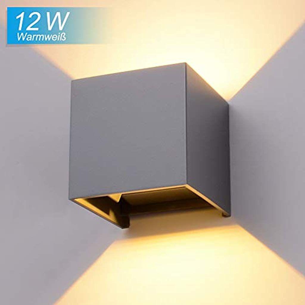 Elitlife 12w Led Wandleuchte Wasserdichte Aussenwandleuchten Innen Aussen Wandlampe Mit Einstellbar Abstrahlwinkel Wandbeleuchtung Wandleuchte Innenbeleuchtung