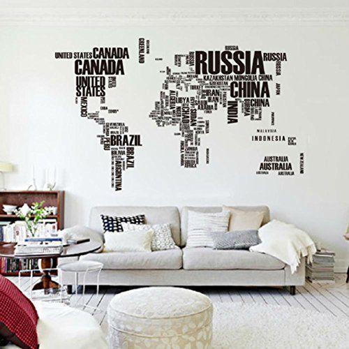 Vinilo Mapa Del Mundo para pared barato Donde estan todos, Mapas