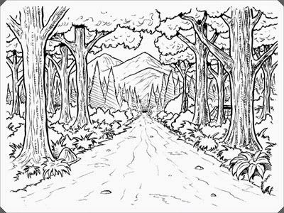 Ausmalbilder Wald Zum Ausdrucken | tree and leaves coloring ...