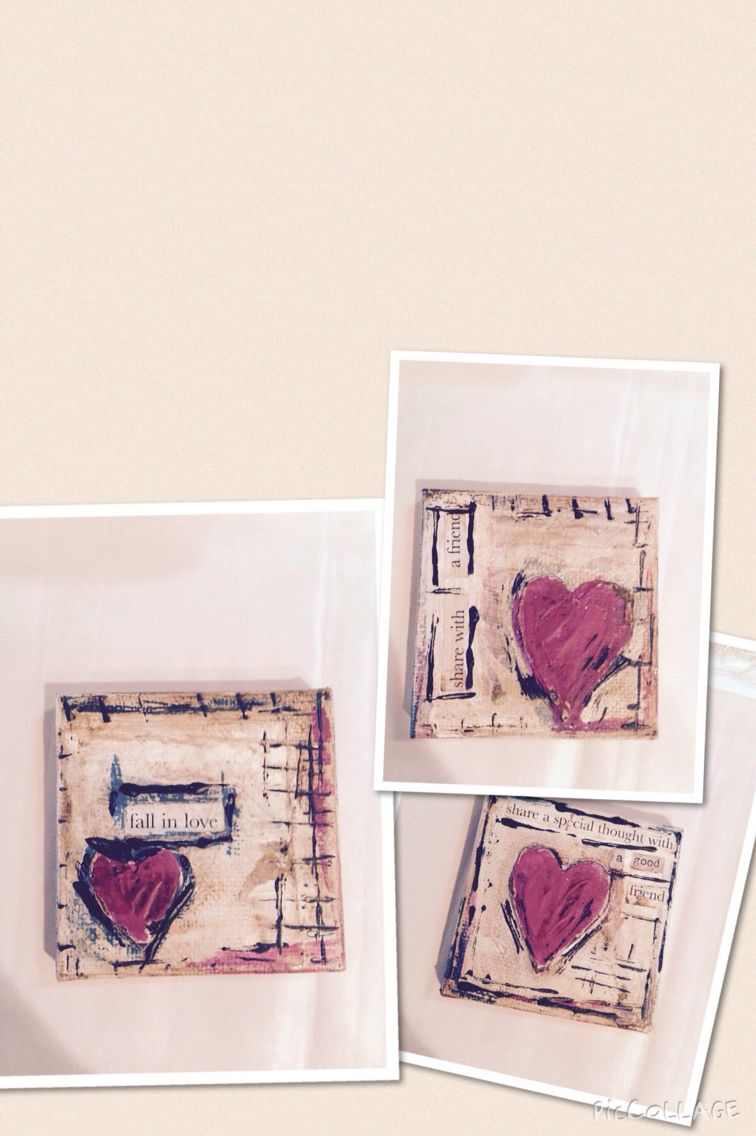 4x4 valentine canvas with easel 16.00