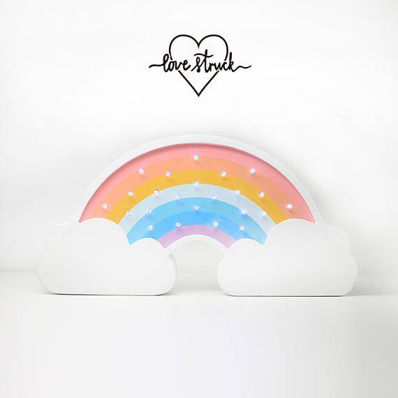 rainbow light vintage marquee light mini wood night rainbow all rh pinterest com Rainbow Room New York Spencer's Gifts Light