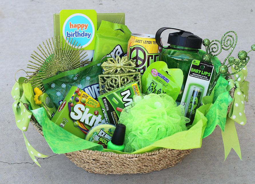 hannahshaven Themed gift baskets, Colorful gifts, Diy