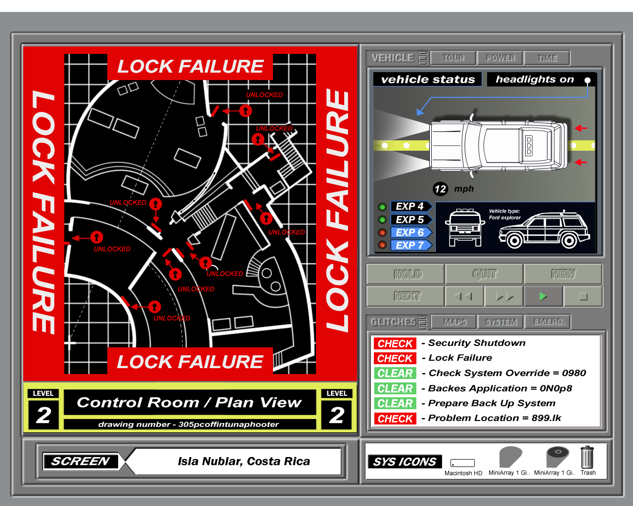 Jurassic Park Computer Screens Jurassic Park Jurassic Park