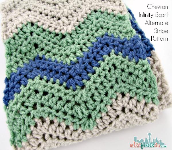 Free Chevron Infinity Scarf Crochet Pattern | Manta