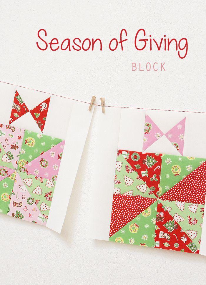 Little Joys Quilt Along – Season Of Giving Block #ilovepennyrose #littlejoys #elealutz