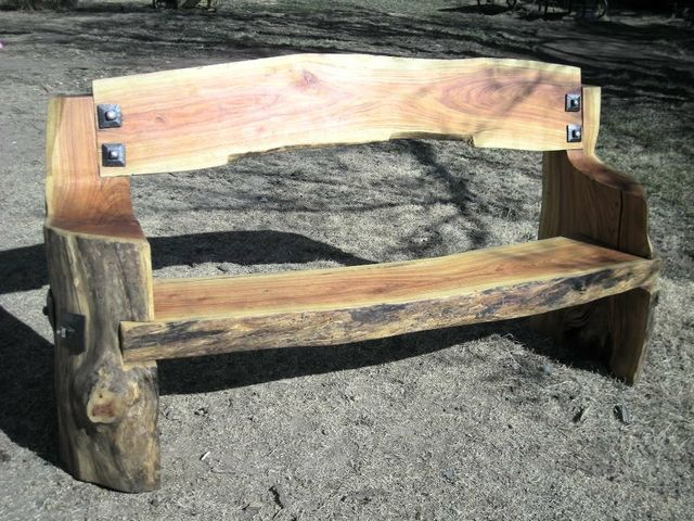 Price Reduced Rustic Handmade Bench Rustic Log Furniture Homemade Bench Rustic Furniture