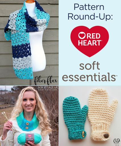 Pattern Round Up Red Heart Soft Essentials Yarn Red Heart Fashion Red Heart Crochet Patterns Crochet Clothing And Accessories