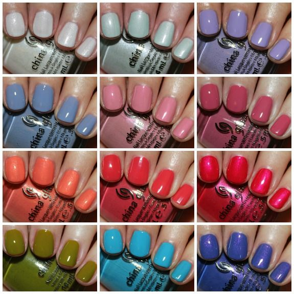 China Glaze Avant Garden for Spring 2013.  www.vampyvarnish.com