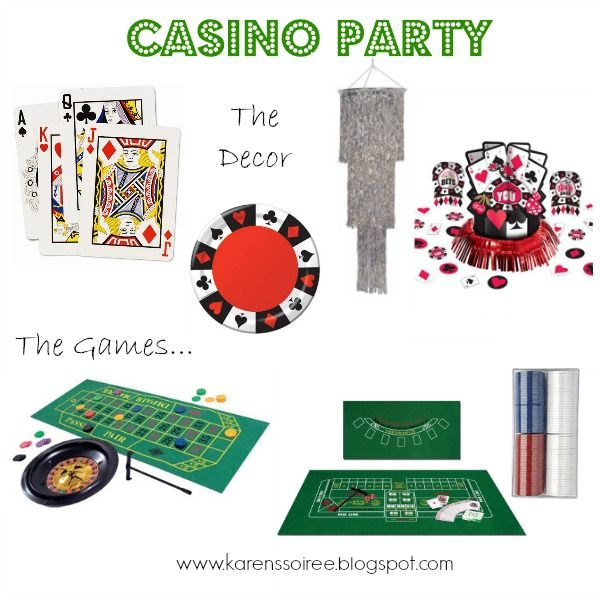 Karen S Soiree Casino Themed Party Products I Love Pinterest