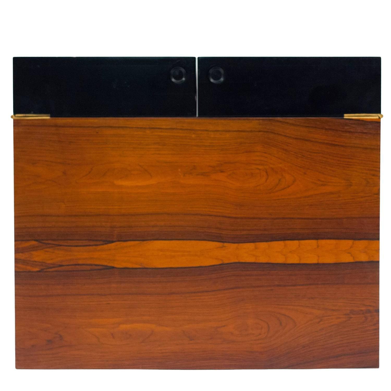 Bar/Record Holder Rosewood Box Gunnar Myrstrand For Kallemo Of Sweden