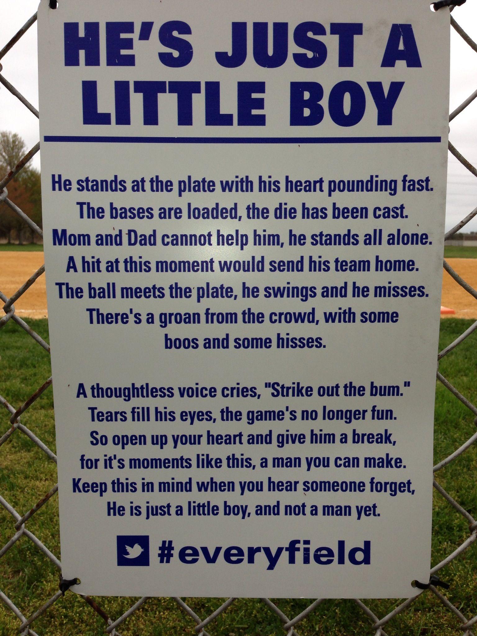 Baseball Sign For Little Boys Little League Baseball Son Quotes Little League