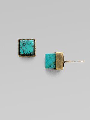 Kelly Wearstler Turquoise Stud Earrings