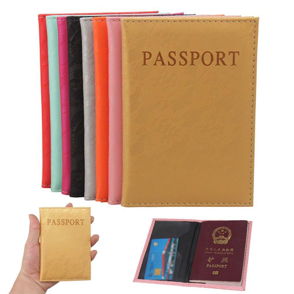d3854fee0962 Luxury Elegant Women Passport Cover Pink World Universal Travel ...