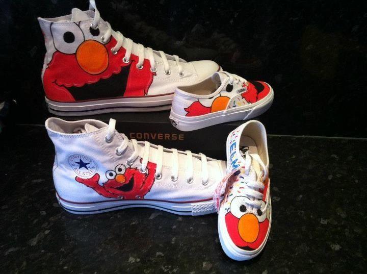 Custom Kids Elmo Converse