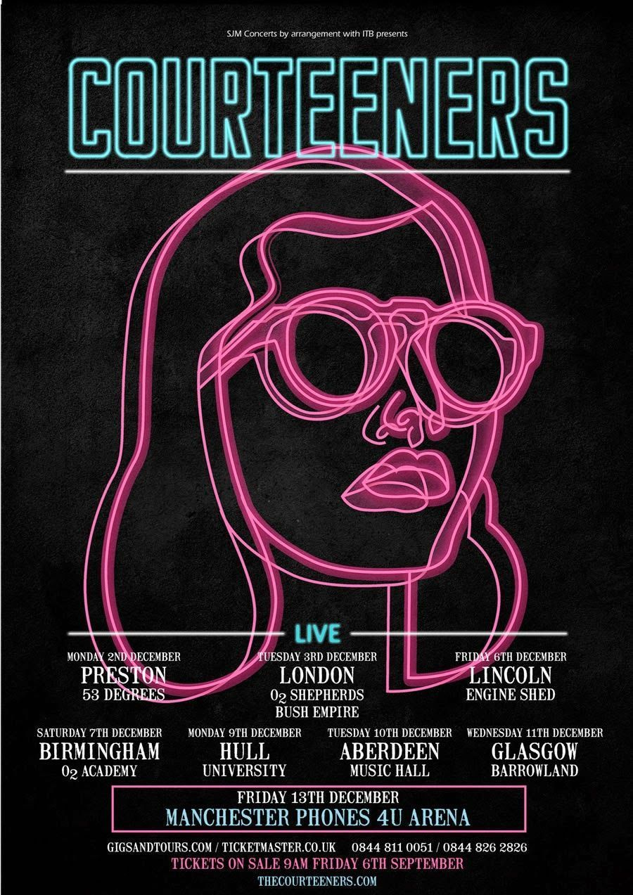 The Courteeners Concert Event Poster Example Venngage Inspiration Gallery Graphic Design Posters Business Poster Poster Layout,Architecture Building Design