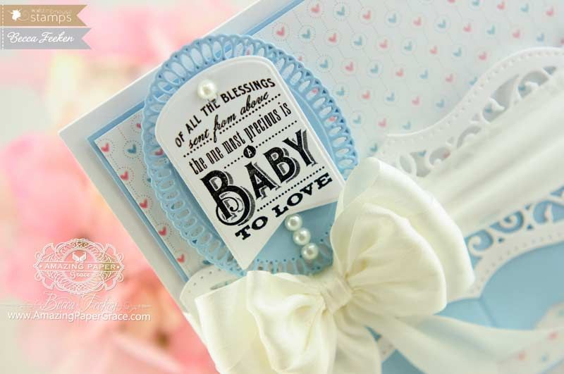 Baby Card Making Ideas Part - 34: Baby Card Making Ideas By Becca Feeken Using Waltzingmouse LIttle Darlings  - Www.amazingpapergrace.