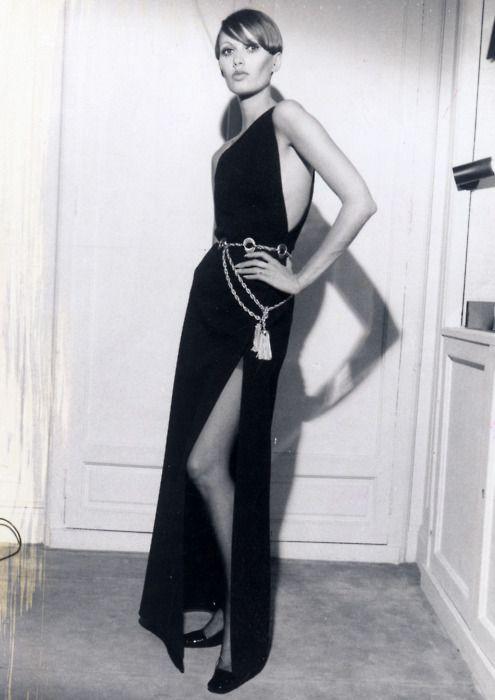 Dress by Yves St Laurent, 1960s.