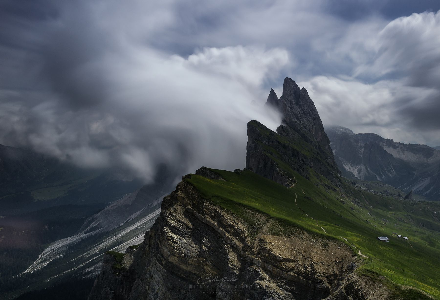 """The Tower - Famous location Seceda with amazing """"S"""" curve cloud scene   You can find me also here: <a href=""""http://facebook.com/MichaelBoehmlaender"""">Facebook</a> 