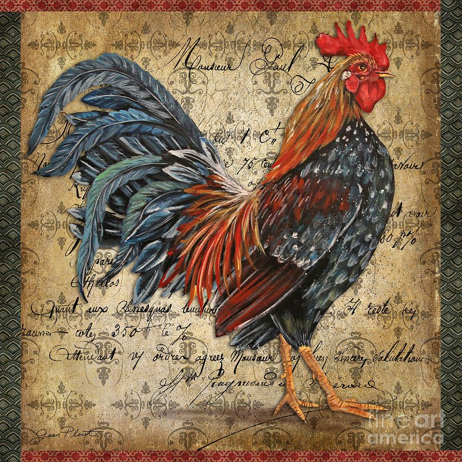 Proud Rooster-a Painting - Proud Rooster-a Fine Art Print
