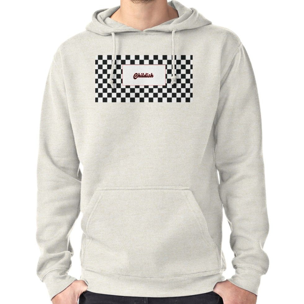 27214a375675 TGFbro Childish Hoodie Checkerboard Hoodie (Pullover)