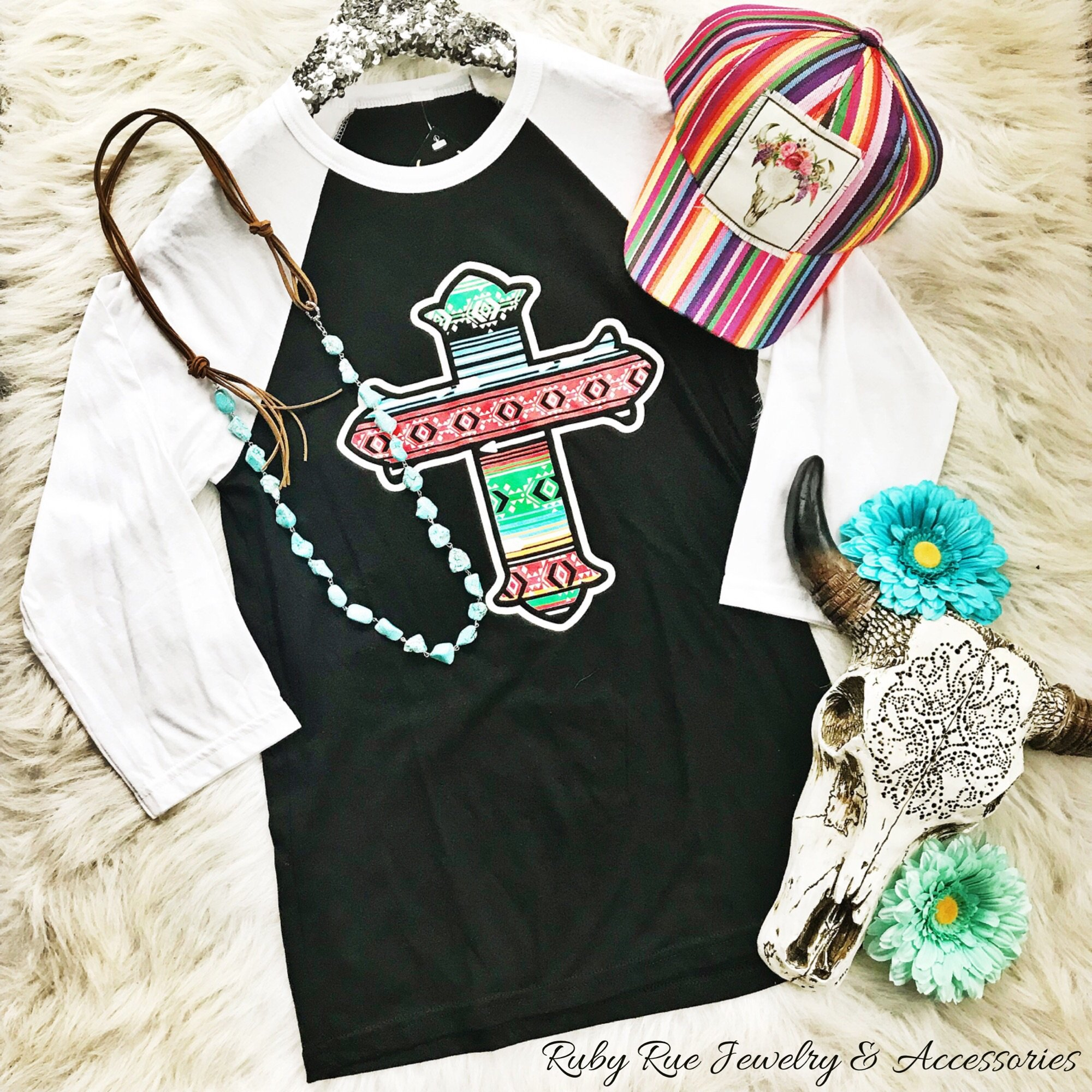 Serape Cross Raglan