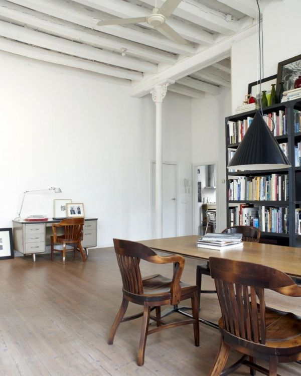 Bibliothek Haus Loft Idee Design Barcelona Textilfabrik