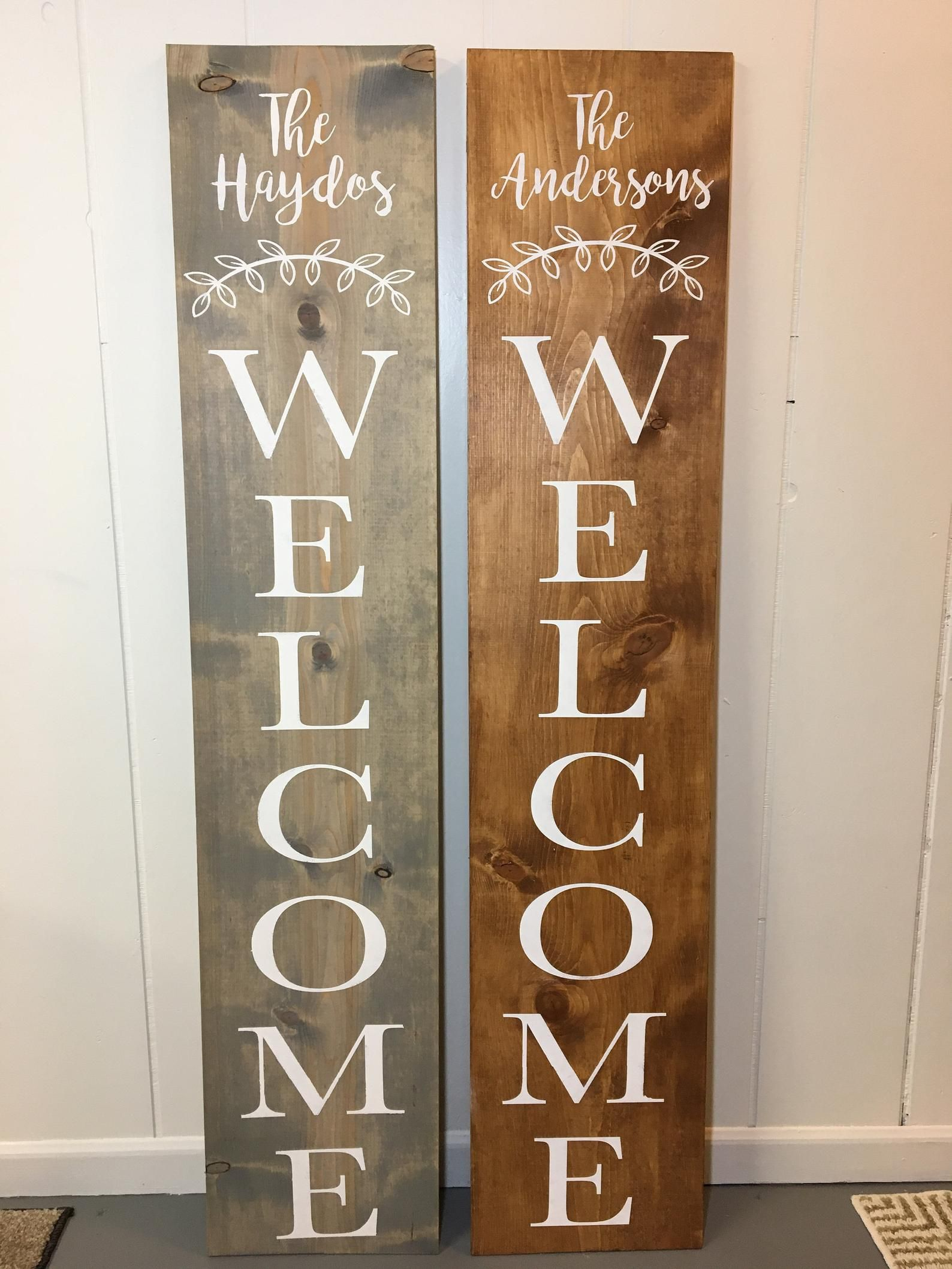 Welcome Sign Custom Name Welcome Welcome Porch Sign Etsy Wooden Welcome Signs Welcome Signs Front Door Porch Welcome Sign