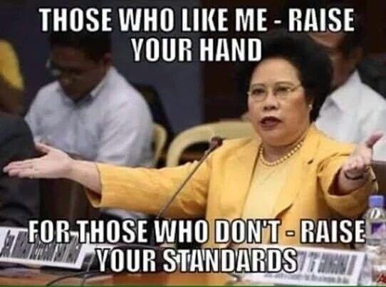 Funny Memes Tagalog 2013 : When her self confidence didn't waver. miriam defensor santiago
