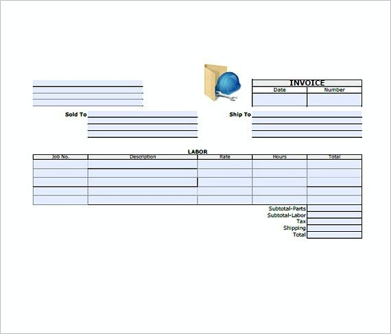 general contractor invoice generic invoice template choose the