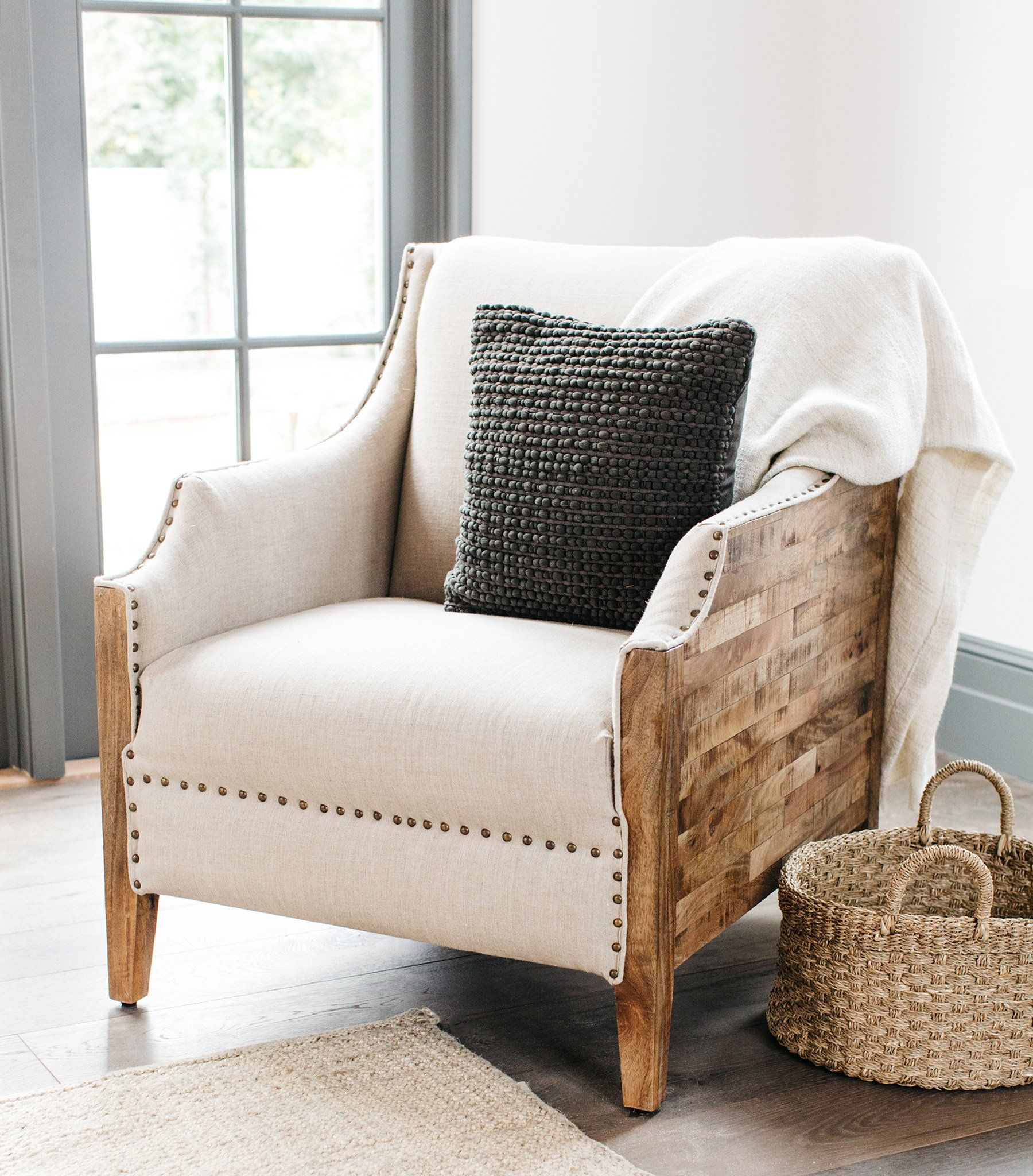 Accent Chair Next To A Full Size Bed: Chair, Living Room Chairs, Home